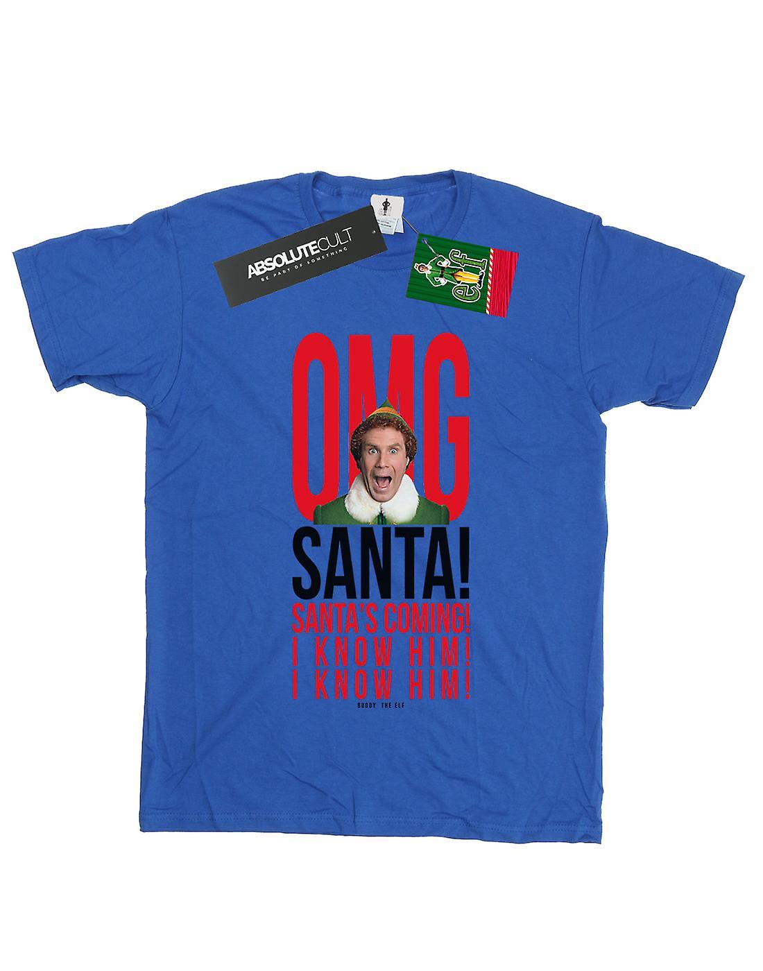 Elf Women's OMG Santa I Know Him Boyfriend Fit T-Shirt
