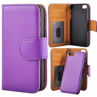 Wallet case with detachable Magnet shell iPhone 5/5s/SE Purple