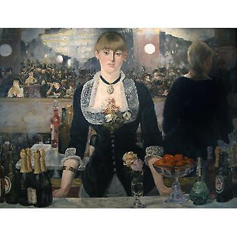 Un bar aux Folies-Bergere, Edouard Manet, 50x40cm