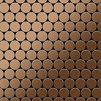 Metal mosaic Titanium ALLOY Dollar-Ti-AB
