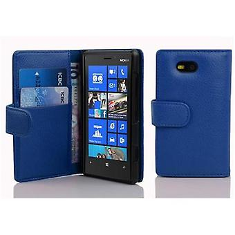 Cadorabo Case for Nokia Lumia 820 in KING BLUE – Cell phone case in structured faux leather with stand function and card compartment – Case Cover Protective Case Case Book Folding Style
