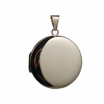 9kt guld 29mm almindelig rund medaljon