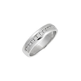 Tähti vihkisormuksista 18ct valkokulta 0,25 karaatin timantti ikuisuuden 4mm vihkisormus