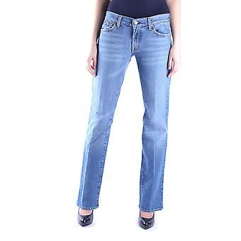 7 For All Mankind Ezbc110020 Dames's Blue Cotton Jeans