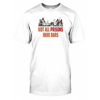 Niet alle gevangenissen hebben Bars - samenzwering Mens T Shirt