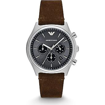 Emporio Armani Quartz bracelet marron Mens Gents Wrist Watch AR11080