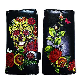 Candy Rose Skull Day of the Dead Red Purse