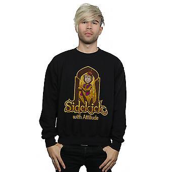 Disney Men's Aladdin Movie Abu Sidekick With Attitude Sweatshirt