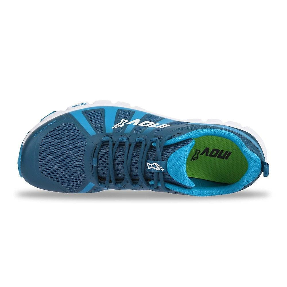 Inov8 Terraultra 260 Mens Wider Fitting Zero Drop Trail Running Shoes Blue White Fruugo