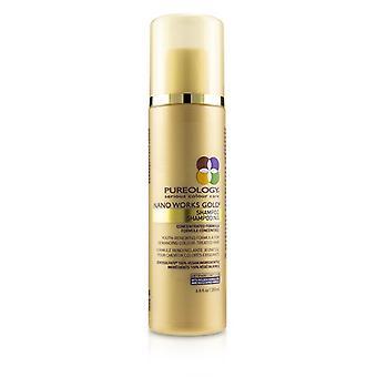 Pureology nano Works Gold shampoo (jeugd-vernieuwende formule voor veeleisende kleur behandeld haar) 200 ml/6,8 oz