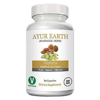 AYUR EARTH Triphala Digestion & Colon Support Ayurvedic Supplement