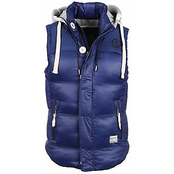 Bodywarmer Blue With Hood