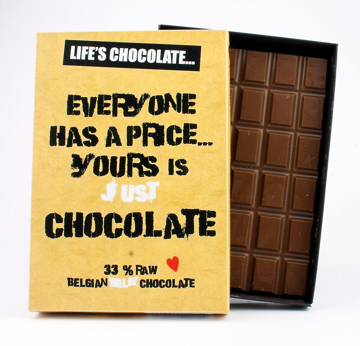 Funny Boxed Chocolate Quote Gift For Men Women Best Friend Greeting Card for Him or Her LC117