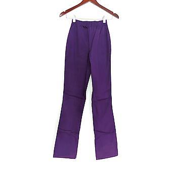 Denim & Co. leggings TXXS stretch Tall Boot Cut paars A01725