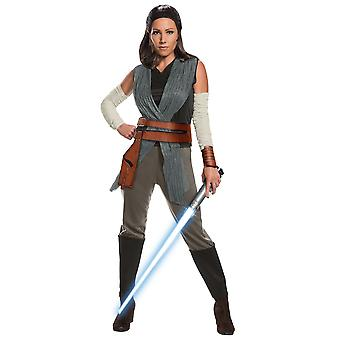 Rey Deluxe The Last Jedi Disney Star War Movie licensierad vuxen Womens kostym