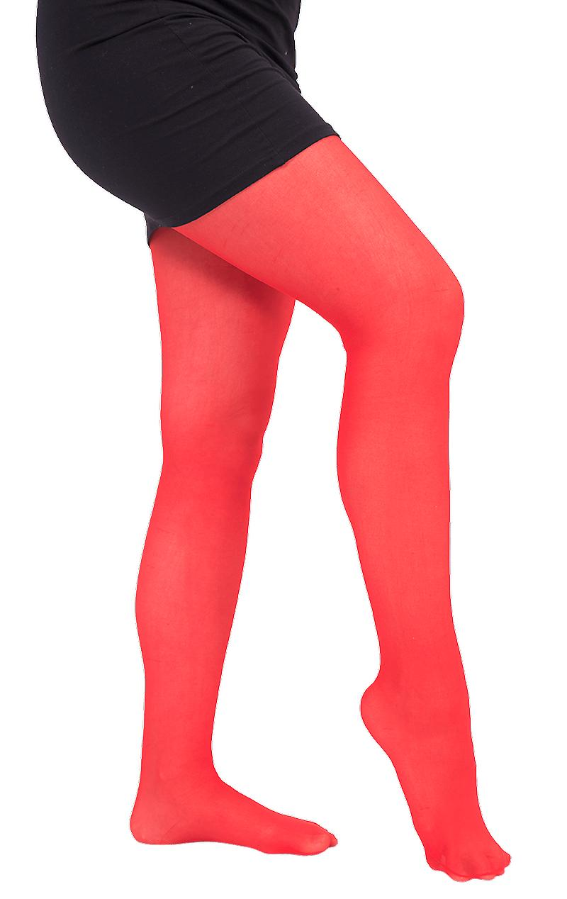 Rubie's Womens Thick Red Tights Fancy Dress Costume Accessory