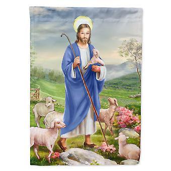 يسوع الراعي و قطيعه من الأغنام العلم قماش البيت حجم