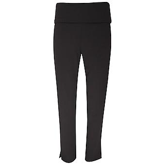 Crea Concept Straight Legged Pull On Black Trousers