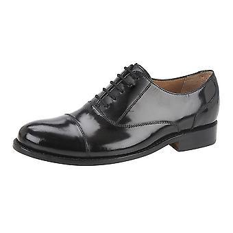 Kensington Mens Hi-Shine Leather Capped Oxford Laced Shoe