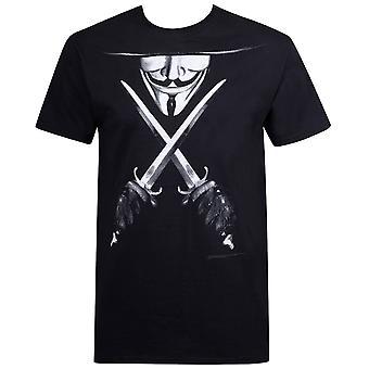 V voor Vendetta gekruiste Daggers mannen ' s T-shirt