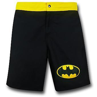 Batman Symbol Negro Tabla Pantalones Cortos con Bolsillo Trasero