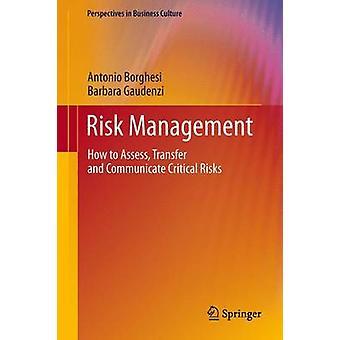 Risk Management hvordan vurdere overføring og kommunisere kritiske risikoer ved Borghesi & Antonio