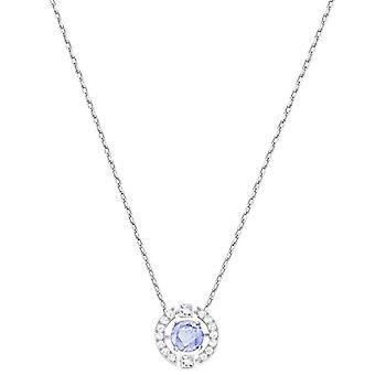 Swarovski Necklace Sparkling Dance Round - bleu - rhodio placage