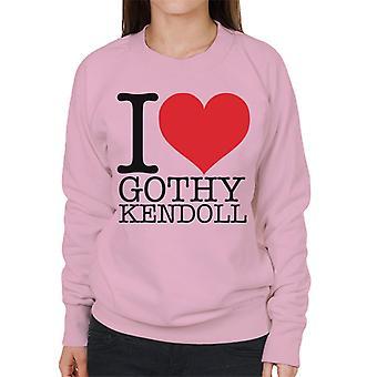 UK drag race Ik hart gothy kendoll vrouwen ' s Sweatshirt