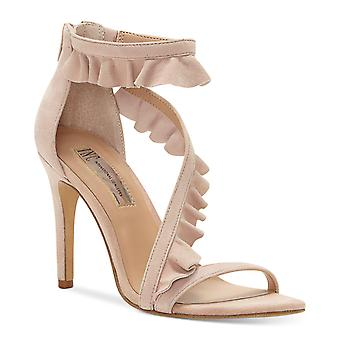 INC International Concepts Womens Rezza Leather Open Toe Special Occasion Ank...