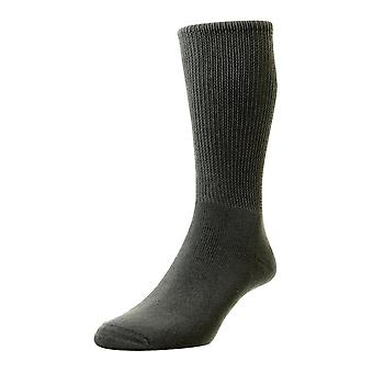 HJ Hall Cotton Diabetic Socks - Mid Grey