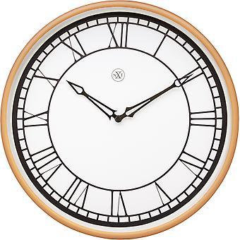nXt - Wall clock - Ø 30 cm - Plastic - White / Matt Rose - 'Kyle'