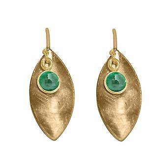 GEMSHINE women's earrings in solid 925 silver, gold plated or rose emerald green