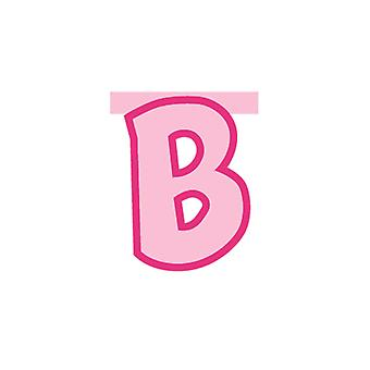 Linking Banner 20cm Pink Letter - B Party Decoration