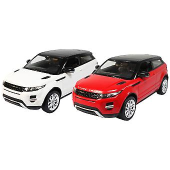 Charles Bentley Range Rover Evoque 1 / 14 Scale Licensed Raster Remote Control Car - Headlights in Red / White