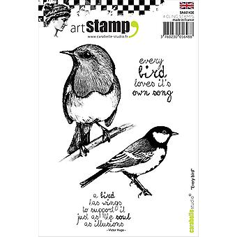 Carabelle Studio Every Bird…; English Cling Stamp, White/Transparent, A6