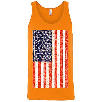 USA Flagge Tank Top Distressed American Pride Männer's