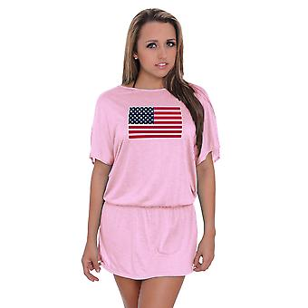 Women's USA Flag Waist Band Dress