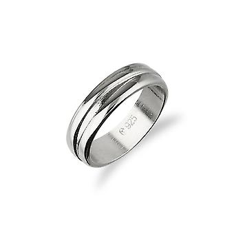 Sterling Argent traditionnel écossais simplement élégant Plain Design Ring