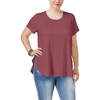 Celebrity Pink Trendy Plus Size High Low Tunic