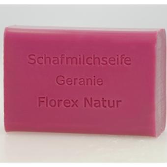 Florex Schafmilchseife - Duft Geranie - der Duft wohltuend und gleichzeitig erfrischend 100 g