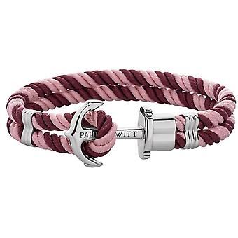 Paul Hewitt PH-PH-N-S-ADB Bracelet - PhREP Nylon Rose Steel - Mixed Bordeaux