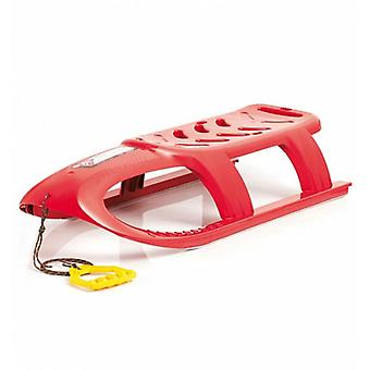 Children's sled Bullet, plastic sled in red with pull rope from 3 years