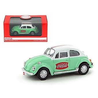 1966 Volkswagen Beetle Coca Cola Green 1/43 Diecast Car Model by Motorcity Classics