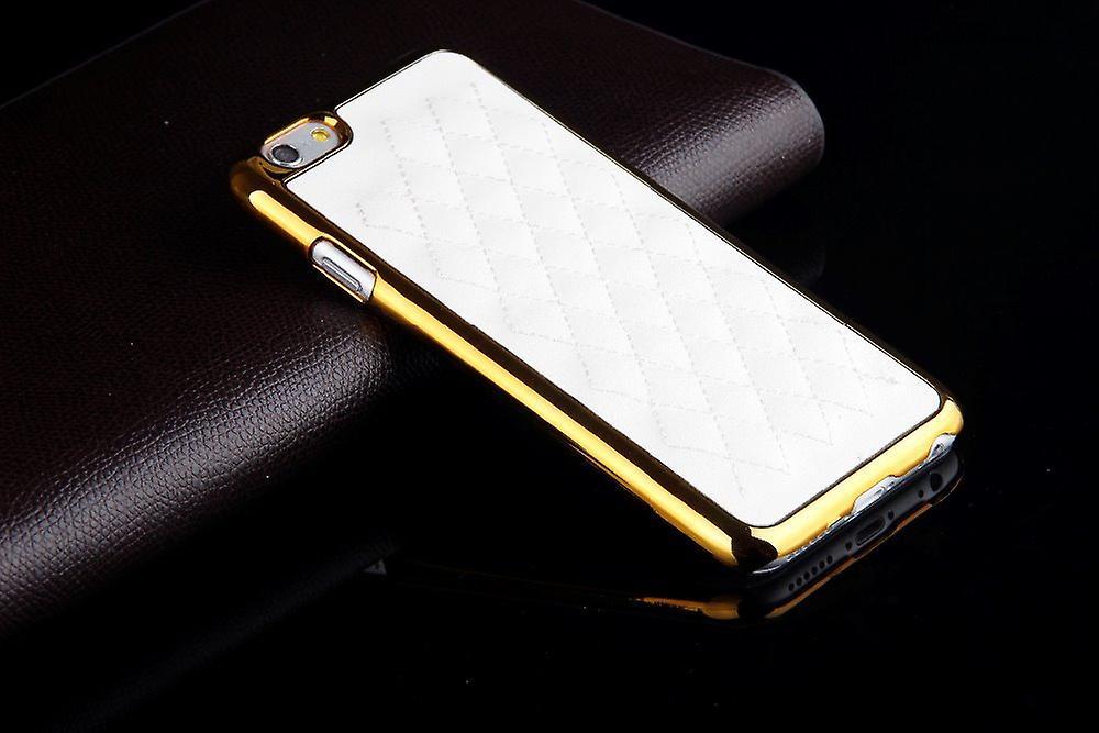 Exklusivt Iphone 6S 6 skal läder mönstrad baksida Vitt