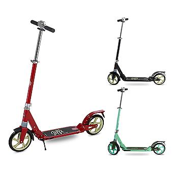 Scooter de patada plegable para adultos, gran rueda grande plegable portátil Push City Commuter