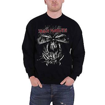 Iron Maiden Mens Sweatshirt Final Frontier Distressed Eddie band logo Official