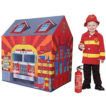 Charles Bentley Fire Station Play Tent Firefighter Wendy House Playhouse Den