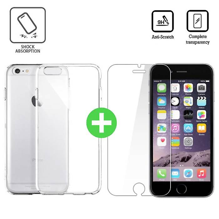 Stuff Certified® iPhone 6S Plus Transparent TPU Case + Screen Protector Tempered Glass