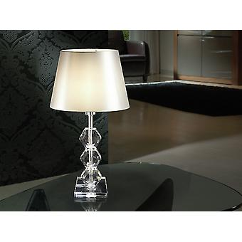 Schuller Corinto - Table lamp made of chromed metal and clear glass. - 541528