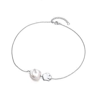 David Deyong Sterling Silver Wavy Nugget Baroque Pearl Necklace